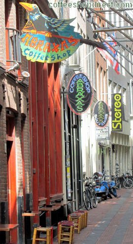 coffee shop Abraxas, Amsterdam, Noord Holland for cannabis with address, telephone number, opening times, email address, Facebook, Instagram, reviews, menu, map, inside view, picture