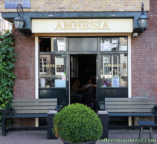 coffee shop Amnesia, Amsterdam, Noord Holland for cannabis with address, telephone number, opening times, Facebook, Instagram, reviews, menu, map, inside view, picture