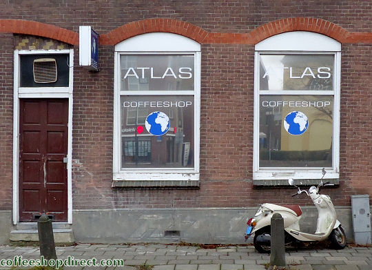 coffee shop Atlas, Gouda, Zuid Holland for cannabis. Historical information about a closed business.