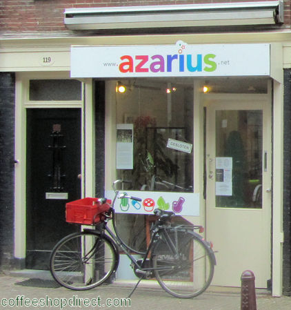 smart shop Azarius, Amsterdam, Noord Holland for herbal highs with address, telephone number, opening times, email address, Facebook, Instagram, Twitter, map, inside view, picture