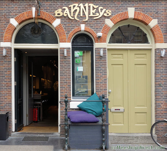 coffee shop Barney's Lounge, Amsterdam, Noord Holland for cannabis with address, telephone number, opening times, email address, reviews, map, inside view, picture