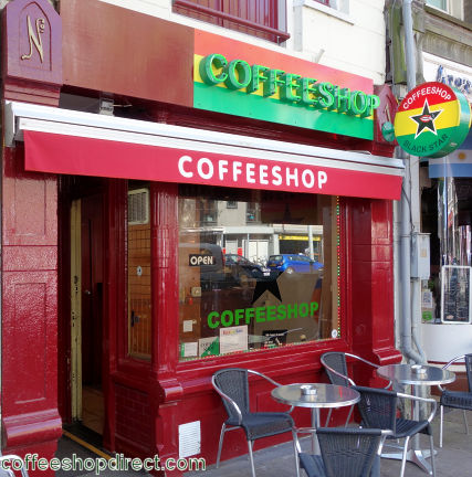 coffee shop Black Star, Amsterdam, Noord Holland for cannabis with address, telephone number, opening times, email address, Facebook, Instagram, reviews, menu, map, picture