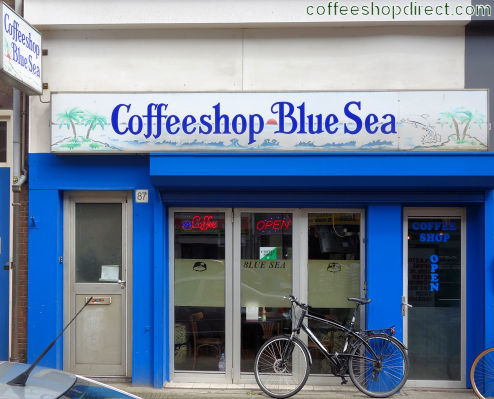 coffee shop Blue Sea, Amsterdam, Noord Holland for cannabis with address, telephone number, opening times, Facebook, reviews, menu, map, picture