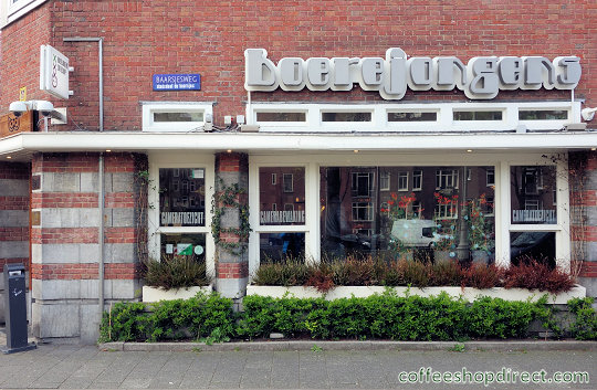 coffee shop Boerejongens West, Amsterdam, Noord Holland for cannabis with address, telephone number, opening times, Facebook, Instagram, reviews, menu, map, inside view, picture