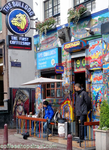coffee shop The Bulldog No. 90, Amsterdam, Noord Holland for cannabis with address, telephone number, opening times, email address, reviews, menu, map, picture