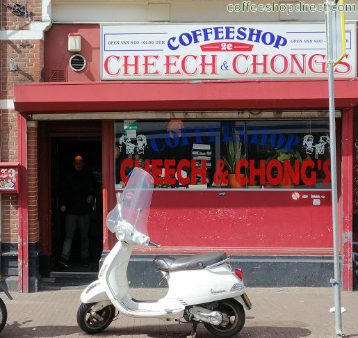 coffee shop 2e Cheech and Chong's, Amsterdam, Noord Holland for cannabis with address, telephone number, opening times, reviews, menu, map, picture