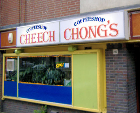 coffee shop Cheech and Chong's, Amsterdam, Noord Holland for cannabis. Historical information about a closed business.