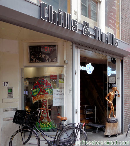smart shop Chills and Thrills, Amsterdam, Noord Holland for herbal highs with address, telephone number, opening times, email address, Facebook, Instagram, Twitter, reviews, map, picture