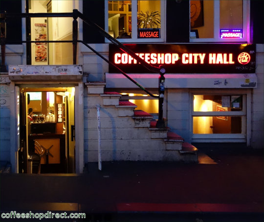 coffee shop City Hall, Amsterdam, Noord Holland for cannabis with address, telephone number, opening times, reviews, map, picture