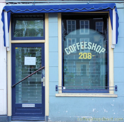 coffee shop Coffeeshop 208, Utrecht, Utrecht for cannabis with address, opening times, reviews, menu, map, picture