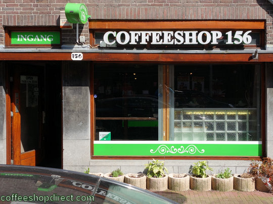 coffee shop Coffeeshop 156, Amsterdam, Noord Holland for cannabis with address, telephone number, opening times, Facebook, reviews, menu, map, picture