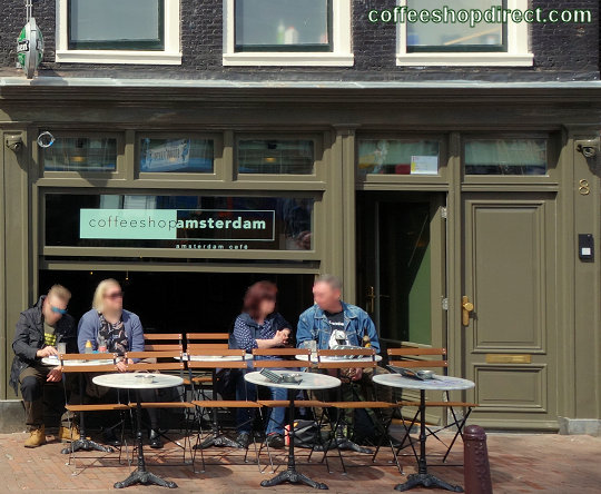 smoker-friendly bar CoffeeshopAmsterdam Cafe, Amsterdam, Noord Holland allowing pure cannabis consumption with address, telephone number, opening times, Facebook, Instagram, reviews, map, inside view, picture