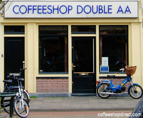 coffee shop Double AA, Leiden, Zuid Holland for cannabis with address, telephone number, opening times, reviews, menu, map, picture