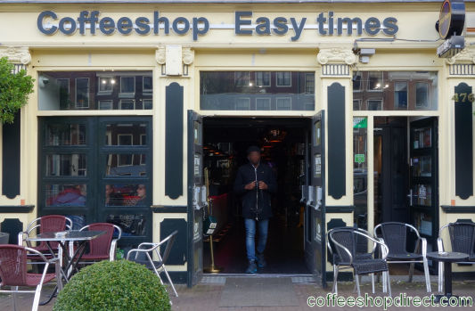coffee shop Easy Times, Amsterdam, Noord Holland for cannabis with address, telephone number, opening times, email address, Facebook, Instagram, reviews, menu, map, inside view, picture