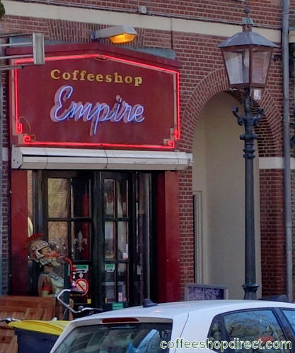 coffee shop Empire, Haarlem, Noord Holland for cannabis with address, telephone number, opening times, Facebook, Instagram, reviews, menu, map, picture