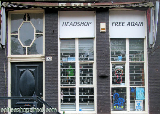 head shop Headshop Free Adam, Amsterdam, Noord Holland for pipes and paraphernalia. Historical information about a closed business.