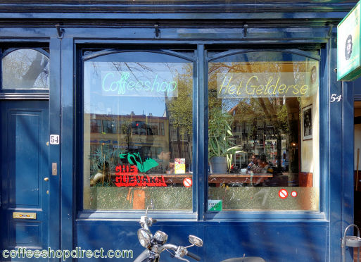 coffee shop Het Gelderse, Amsterdam, Noord Holland for cannabis with address, telephone number, opening times, Instagram, reviews, menu, map, picture