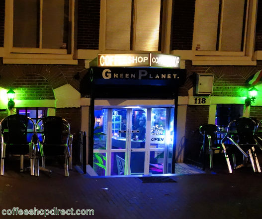 coffee shop Green Planet, Amsterdam, Noord Holland for cannabis with address, telephone number, reviews, map, picture