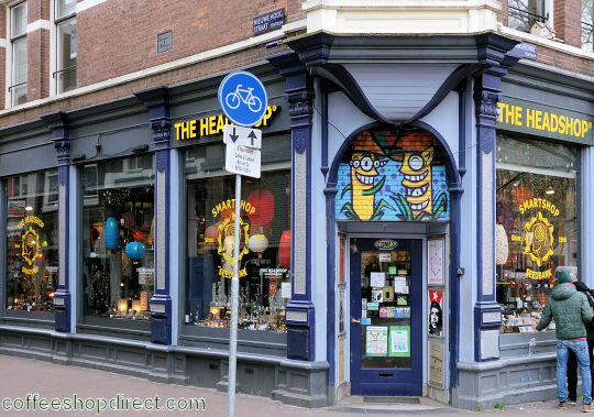 head shop The Headshop, Amsterdam, Noord Holland for pipes and paraphernalia with address, telephone number, opening times, email address, Facebook, reviews, map, picture