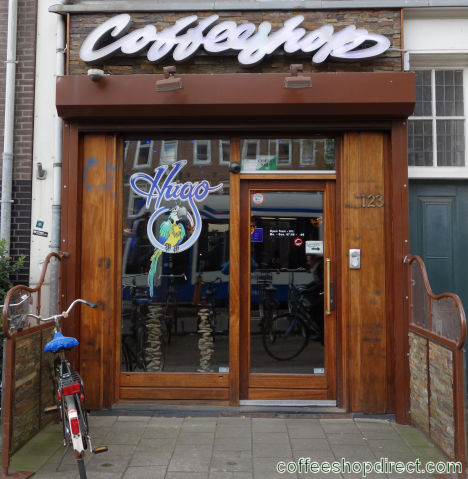 coffee shop Hugo de Groot, Amsterdam, Noord Holland for cannabis with address, telephone number, opening times, Facebook, Instagram, reviews, menu, map, picture