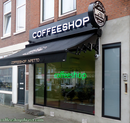 coffee shop Inpetto, Rotterdam, Zuid Holland for cannabis with address, telephone number, opening times, Facebook, Instagram, map, picture