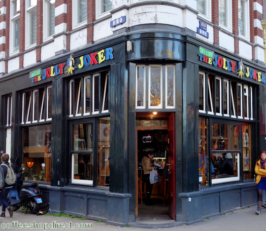 coffee shop The Jolly Joker, Amsterdam, Noord Holland for cannabis with address, telephone number, opening times, Facebook, Instagram, reviews, menu, map, picture