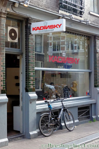 coffee shop Kadinsky, Amsterdam, Noord Holland for cannabis with address, telephone number, opening times, reviews, menu, map, picture