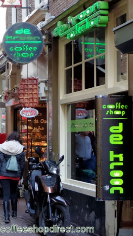 coffee shop De Kroon, Amsterdam, Noord Holland for cannabis with address, telephone number, opening times, email address, Facebook, Instagram, reviews, menu, map, inside view, picture