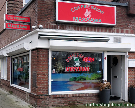 coffee shop Massawa, Amsterdam, Noord Holland for cannabis with address, telephone number, opening times, Facebook, Instagram, reviews, menu, map, picture