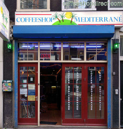 coffee shop Mediterrane, Amsterdam, Noord Holland for cannabis with address, telephone number, opening times, email address, Instagram, reviews, menu, map, picture
