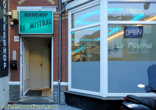coffee shop Le Mistral, The Hague ('s-Gravenhage, Den Haag), Zuid Holland for cannabis with address, telephone number, opening times, reviews, map, picture