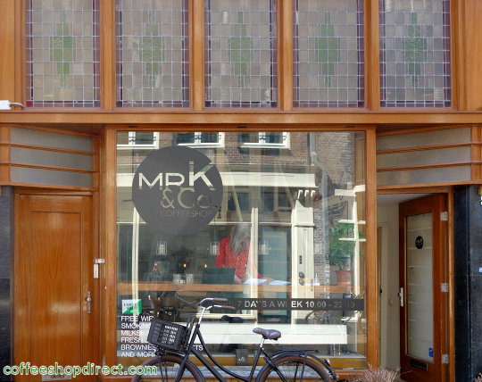 coffee shop Mr K & Co, Amsterdam, Noord Holland for cannabis with address, telephone number, opening times, Facebook, reviews, menu, map, picture