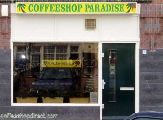 coffee shop Paradise, Leiden, Zuid Holland for cannabis with address, telephone number, opening times, Instagram, reviews, map, picture
