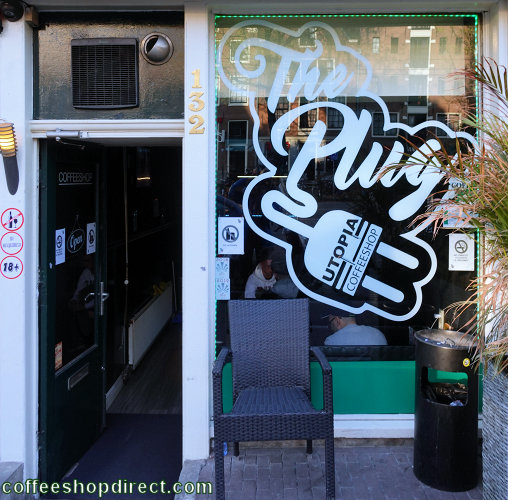 coffee shop The Plug Utopia, Amsterdam, Noord Holland for cannabis with address, telephone number, opening times, email address, Facebook, Instagram, reviews, menu, map, picture