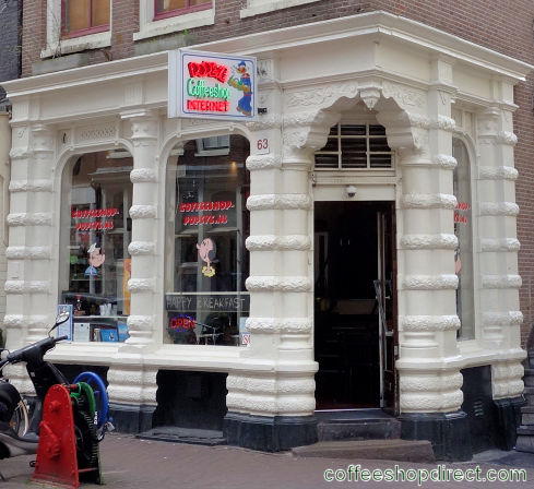 coffee shop Popeye, Amsterdam, Noord Holland for cannabis