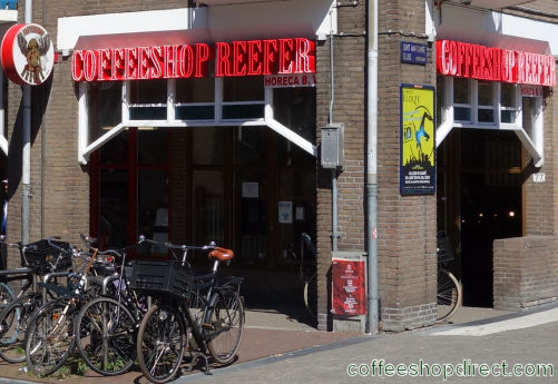coffee shop Reefer, Amsterdam, Noord Holland for cannabis with address, telephone number, opening times, Facebook, Instagram, reviews, menu, map, picture