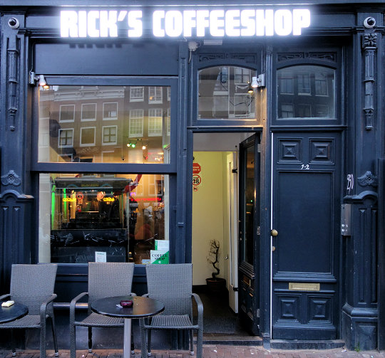 coffee shop Rick's Coffeeshop, Amsterdam, Noord Holland for cannabis with address, telephone number, opening times, reviews, map, picture