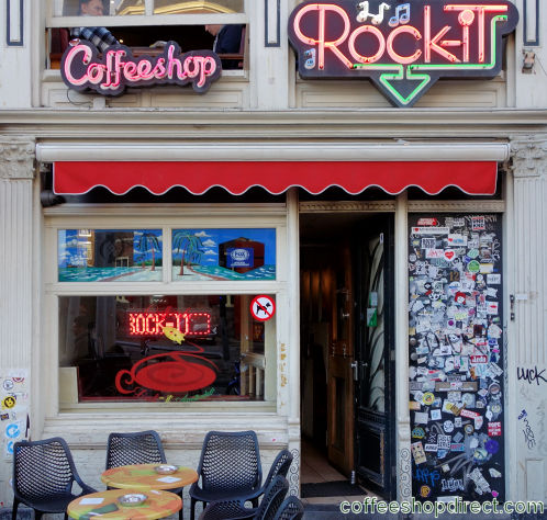 coffee shop Rock-It, Amsterdam, Noord Holland for cannabis with address, telephone number, opening times, Facebook, Instagram, reviews, menu, map, picture
