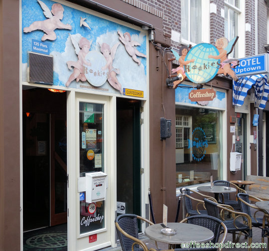 coffee shop The Rookies, Amsterdam, Noord Holland for cannabis with address, telephone number, opening times, email address, Facebook, Instagram, reviews, menu, map, inside view, picture
