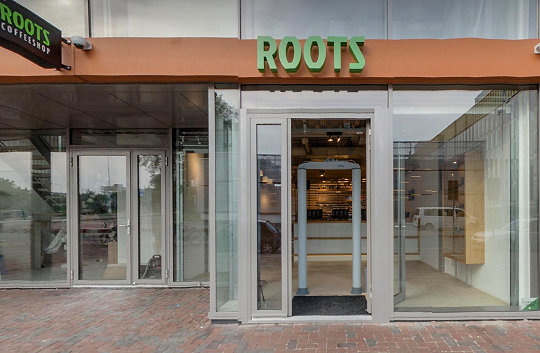 coffee shop Roots, Amsterdam, Noord Holland for cannabis with address, opening times, Facebook, Instagram, reviews, map, inside view, picture