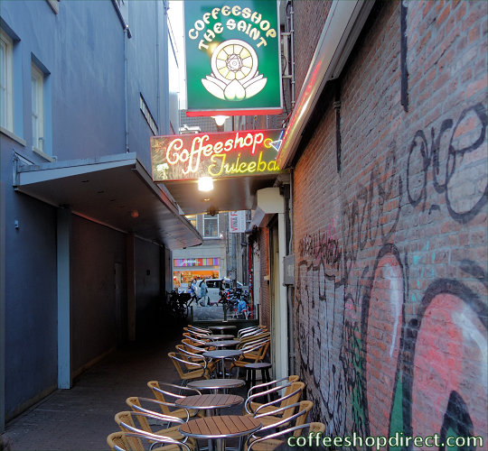 coffee shop The Saint, Amsterdam, Noord Holland for cannabis with address, telephone number, opening times, Facebook, Instagram, reviews, menu, map, picture