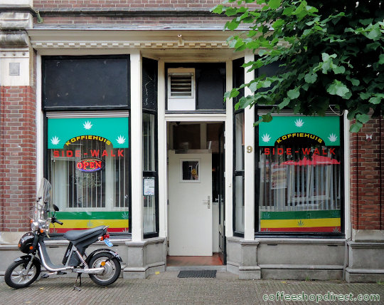 coffee shop Side-Walk, Wageningen, Gelderland for cannabis with address, telephone number, opening times, Facebook, Instagram, reviews, map, picture