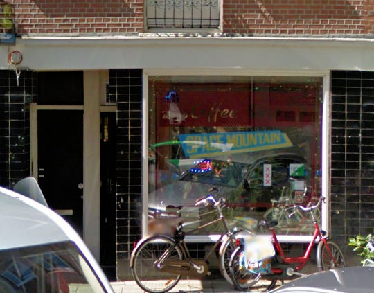 coffee shop Space Mountain, Amsterdam, Noord Holland for cannabis. Historical information about a closed business.