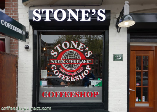 coffee shop Stones, Amsterdam, Noord Holland for cannabis with address, opening times, Facebook, Instagram, reviews, menu, map, picture