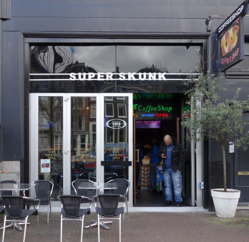 coffee shop Superskunk / Tops, Amsterdam, Noord Holland for cannabis with address, telephone number, opening times, Facebook, Instagram, reviews, menu, map, picture