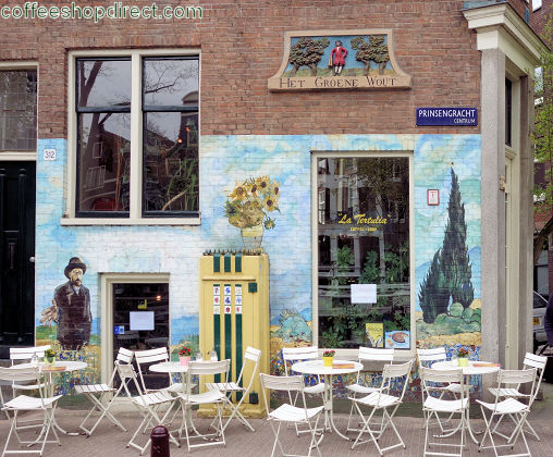 coffee shop La Tertulia, Amsterdam, Noord Holland for cannabis with address, telephone number, opening times, Facebook, Instagram, reviews, menu, map, picture