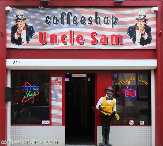 coffee shop Uncle Sam, Arnhem, Gelderland for cannabis with address, telephone number, opening times, Facebook, Instagram, reviews, map, picture
