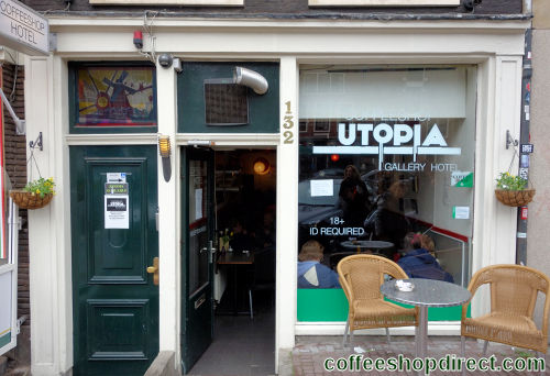 coffee shop The Plug (formerly Utopia), Amsterdam, Noord Holland for cannabis with address, telephone number, opening times, email address, Facebook, Instagram, reviews, menu, map, picture
