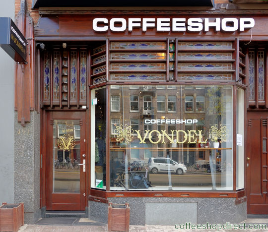 coffee shop Vondel, Amsterdam, Noord Holland for cannabis with address, telephone number, opening times, Facebook, Instagram, reviews, menu, map, picture