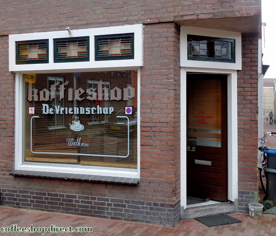 coffee shop De Vriendschap, Gouda, Zuid Holland for cannabis with address, telephone number, opening times, reviews, map, picture